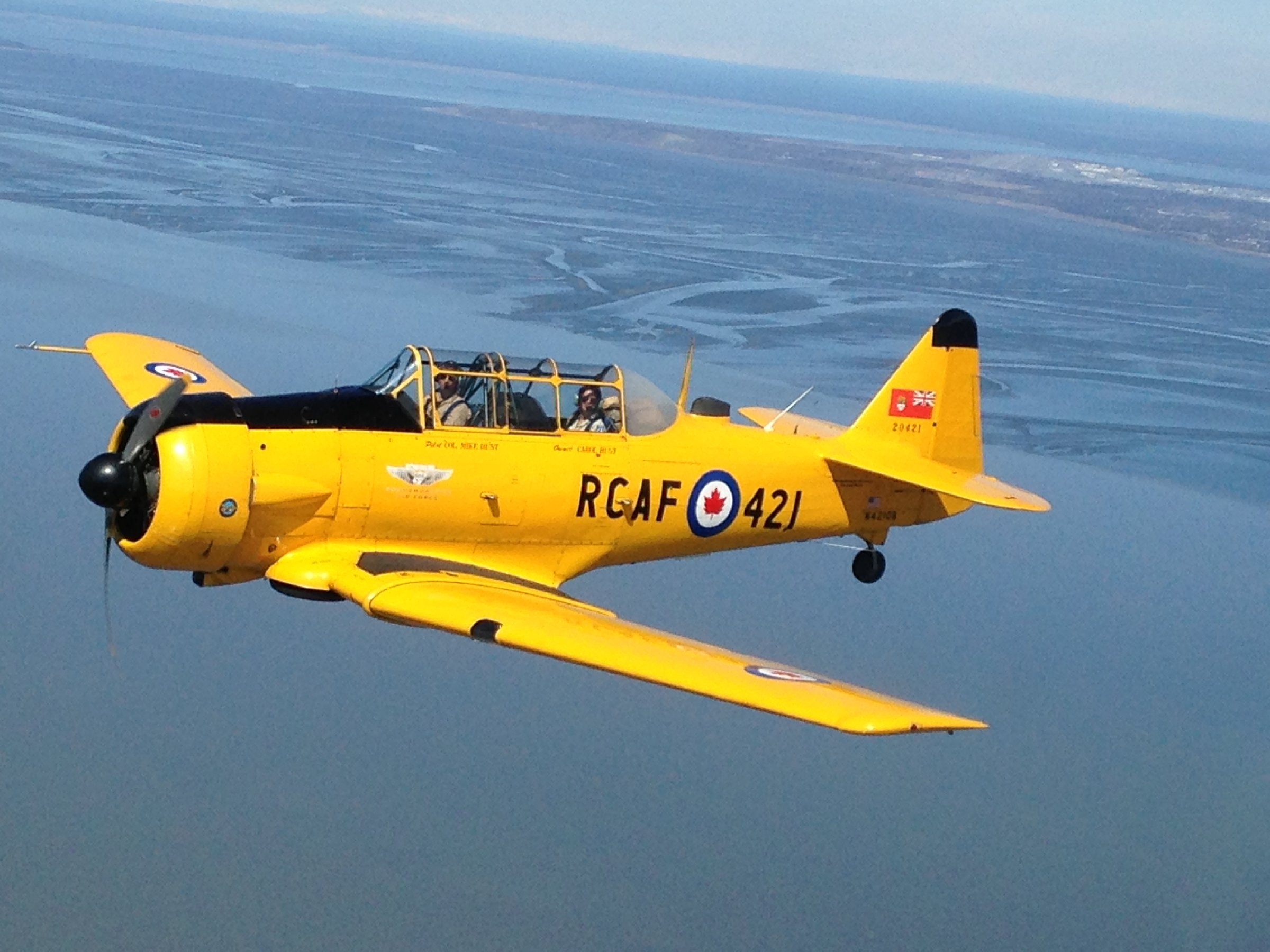 Commemorative Air Force Harvard flying wing to Homer