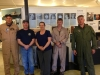 Pratt Museum in Homer, Museum Display.  Pilots, Ed Kornfield, Jeff Sever, Homer Mayor Beth Wythe, Alex Rousch, Chuck Miller
