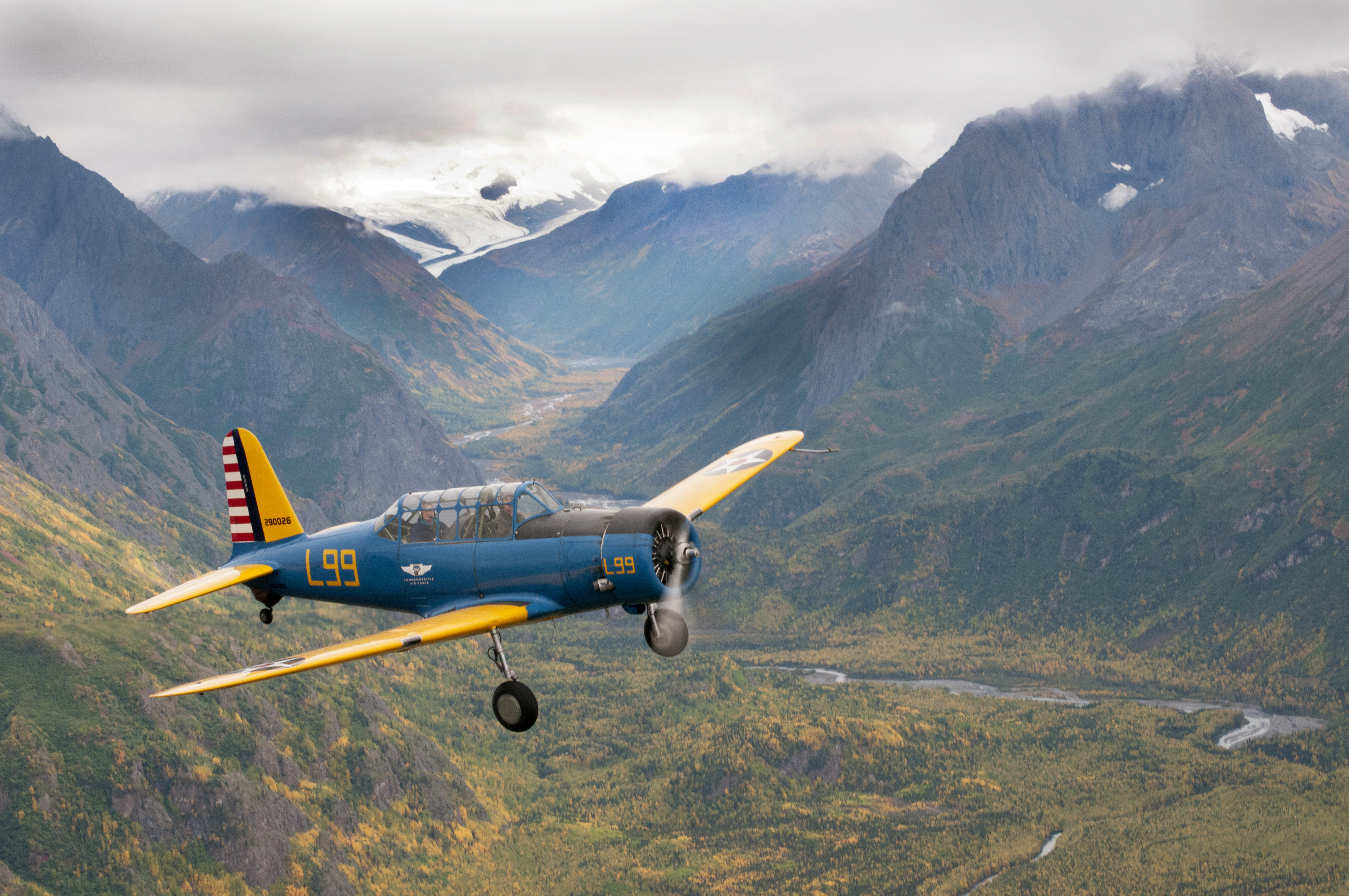 Formation flying over Eagle River, Alaska